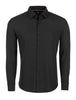 Black Waffle Knit Performance Long Sleeve Shirt