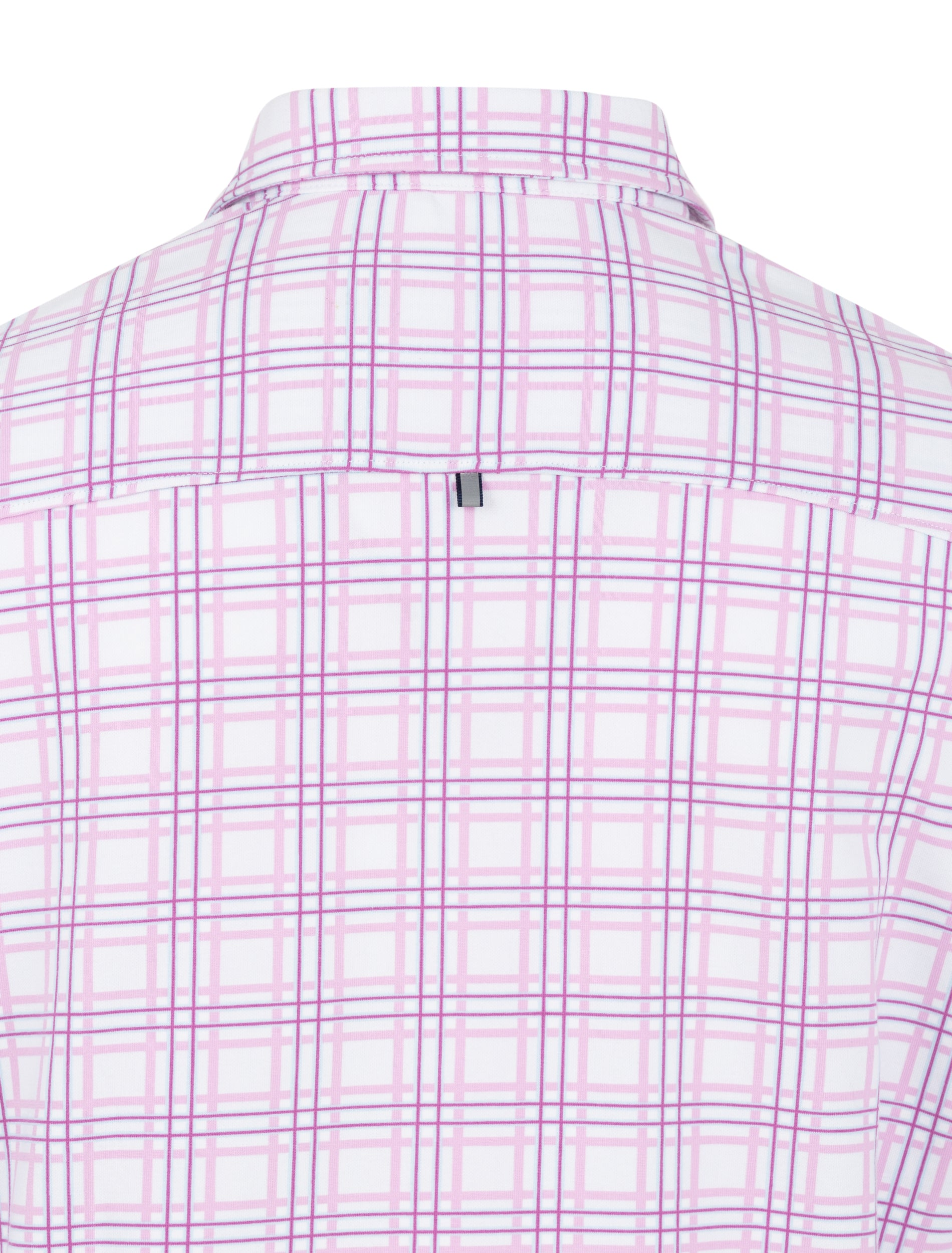 Pink Check Knit Performance Long Sleeve Shirt-Stone Rose