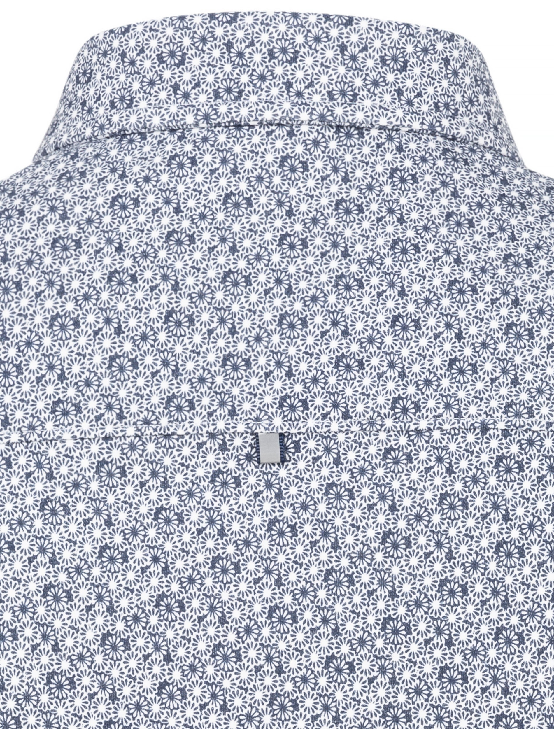 Navy Floral Knit Performance Long Sleeve Shirt-Stone Rose