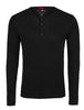 Black Melange Knit Performance Henley