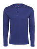Blue Melange Knit Performance Henley