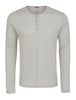 Ivory Melange Knit Performance Henley-Stone Rose