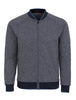 Navy Herringbone Knit Bomber