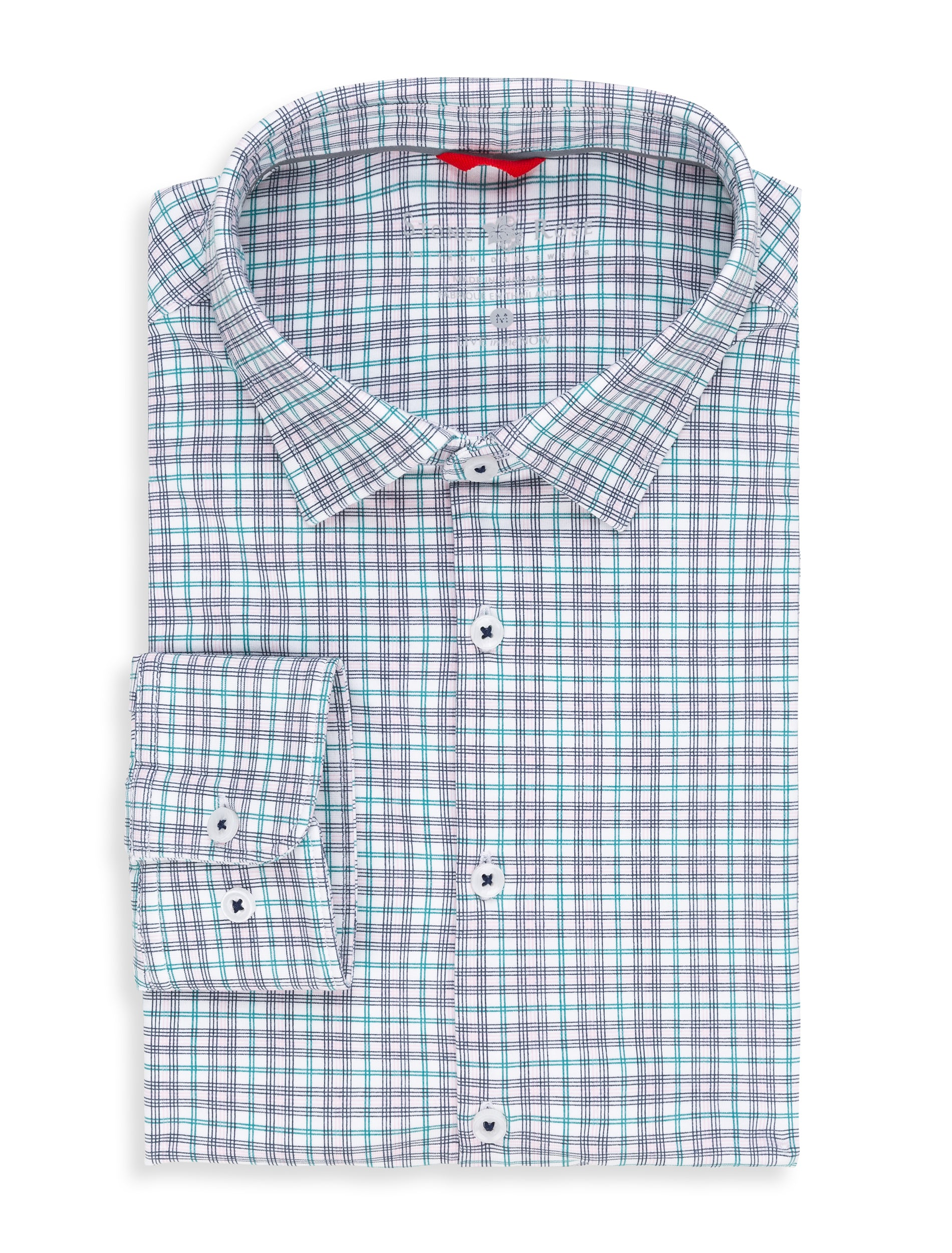 Pink Check Performance Knit Long Sleeve Shirt