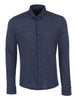 Blue Birdseye Knit Long Sleeve Shirt
