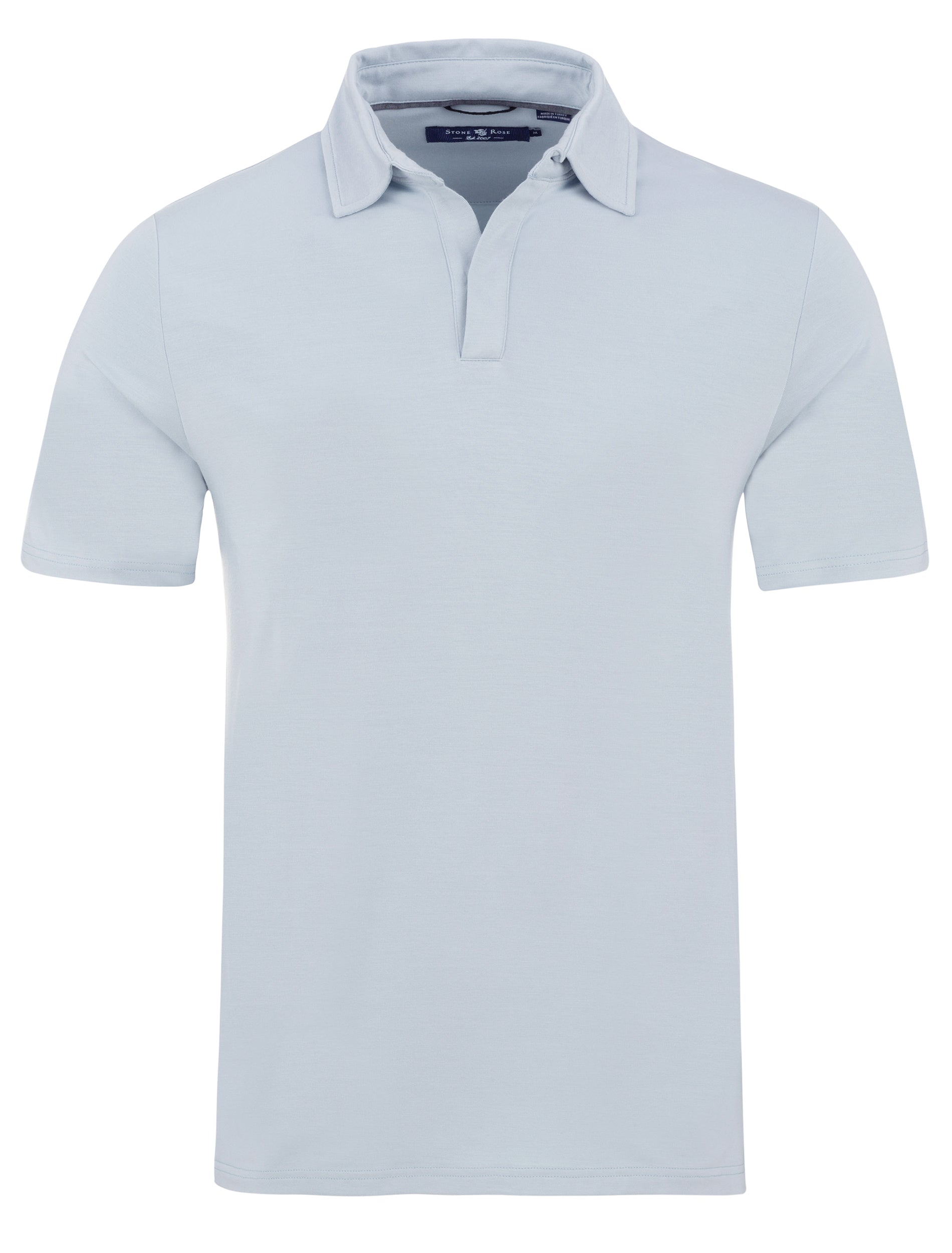 Light Grey Micro Modal Button-less Polo