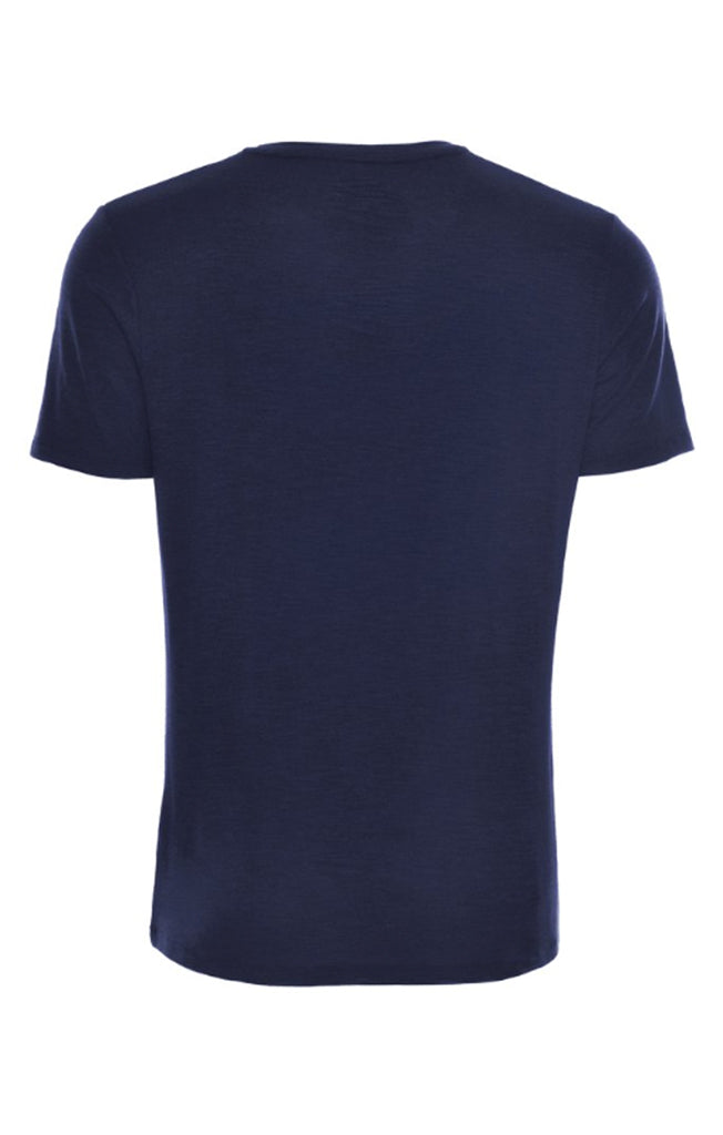 Navy Flame Knit V-Neck T-Shirt