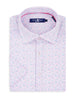 Pink Heather Print Knit Short Sleeve Shirt