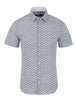 Light Blue Cloud Print Short Sleeve Shirt