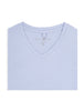 Ash Blue V-Neck Modal T-Shirt