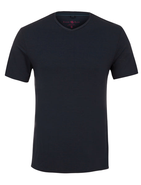 Navy V-Neck Modal T-Shirt