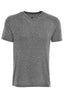 Grey Light Flame Knit V-Neck T-Shirt-Stone Rose