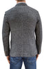 X4233 - Men's Heather Knit Blazer in Dark Gray