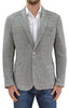 X4233 - Men's Heather Knit Blazer in Light Gray