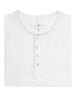 White Modal Short Sleeve Henley