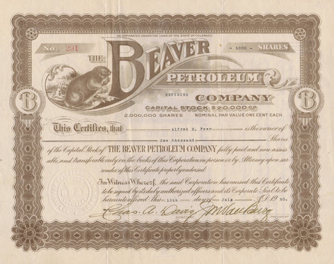 Beaver Petroleum Company, 1920 (CO)