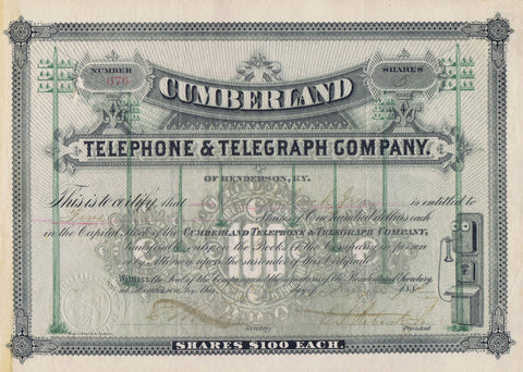 Cumberland Telephone & Telegraph Company, Henderson, Ky. 1884