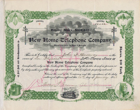 New Home Telephone Company, 1906 (NE)