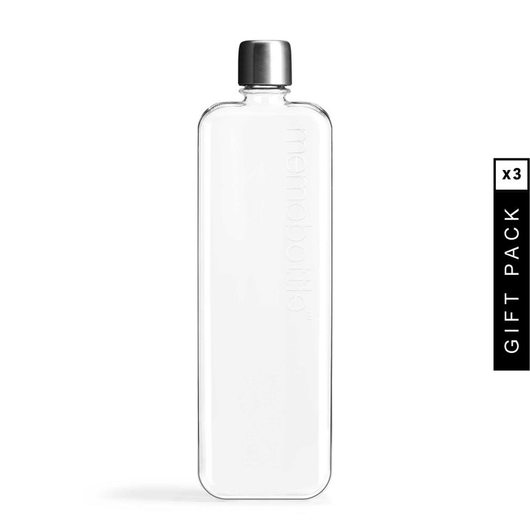 Fashion Water Bottle Portable Clear Book Portable Paper Pad Water Bottle Flat VQ
