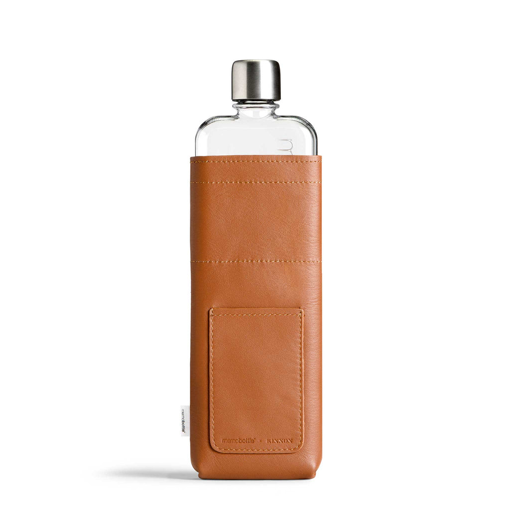 Slim Leather Sleeve + memobottle Pack