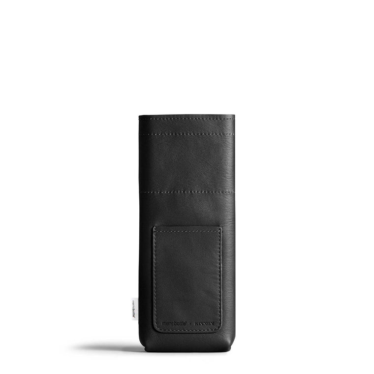 Slim Leather Sleeve - Black
