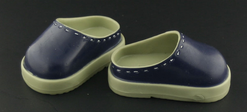 Battat Doll Shoes -- Green & Blue Clogs -- Fit American Girl