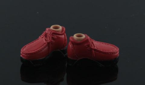 HTF Mini Bratz Boyz Shoes -- Brick Red Boots