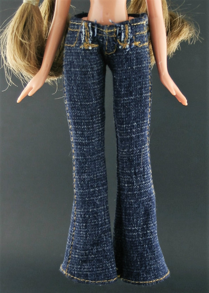 Bratz Sized Clothes -- Skinny Flare Leg Dark Blue Denim Jeans