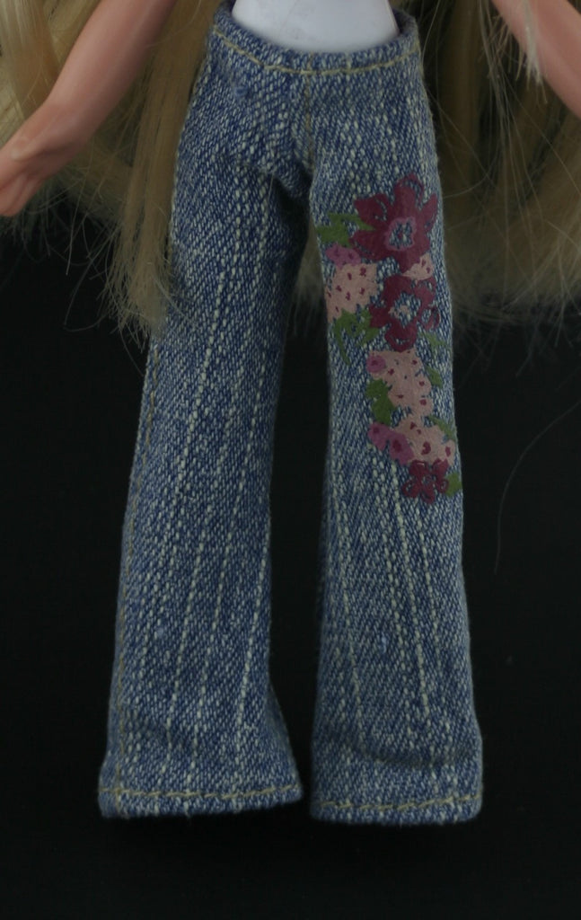 Bratz Kidz Size Clothes -- Jeans W/ Flower Decal
