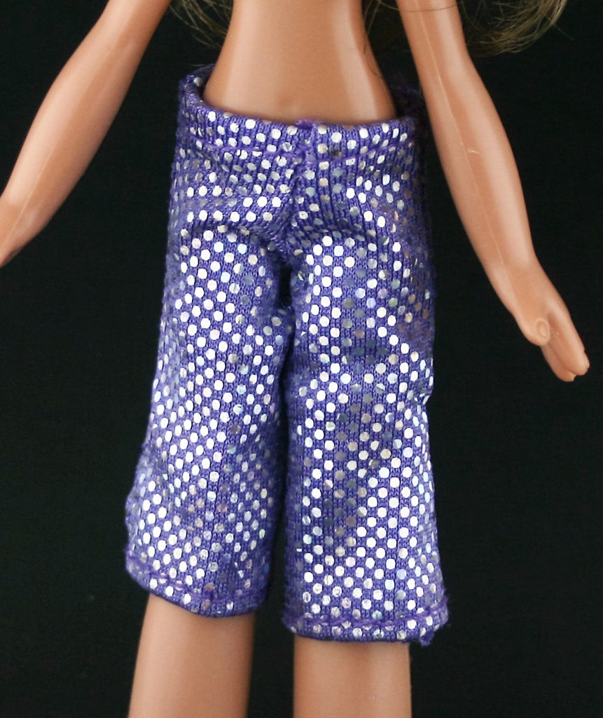 Bratz Kidz Clothes -- Purple Bike Shorts W/ Irridescent Dots