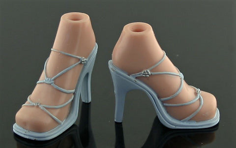 Bratz Sized Shoes -- Pale Blue High Heel Strappy Sandals