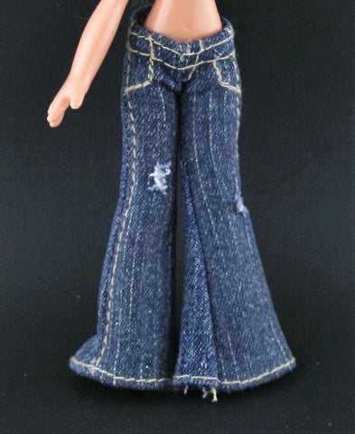 Bratz Kidz Clothes -- Distressed Flare Leg Jeans W/ Holes
