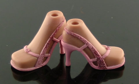 Bratz Shoes -- Pink Sandals W/ Glitter