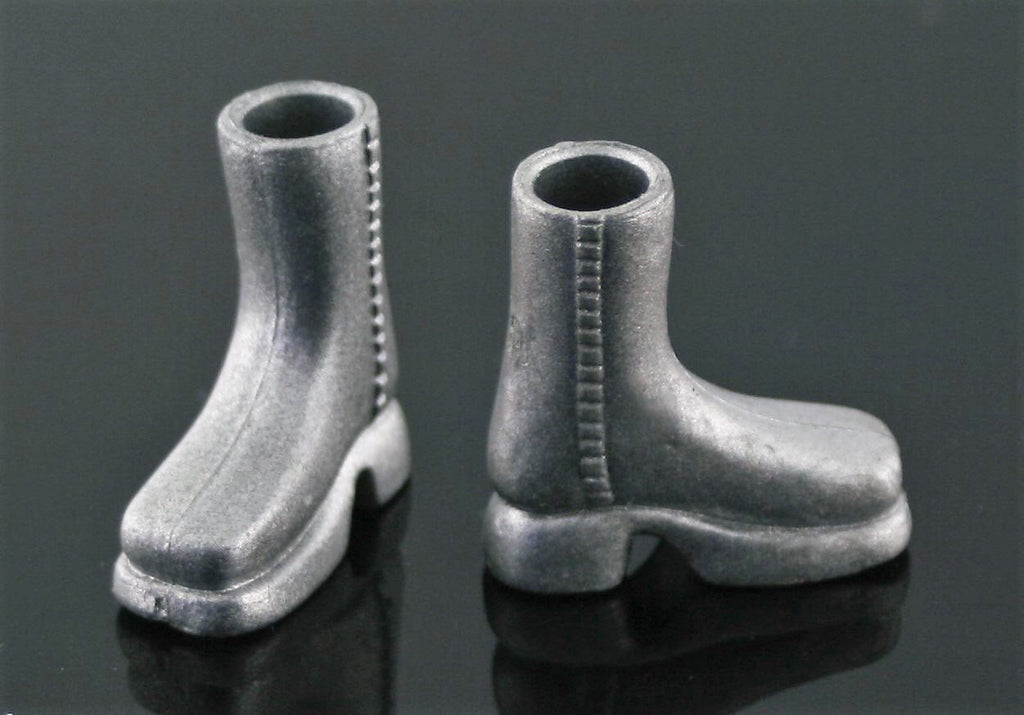 Mini Bratz Shoes -- Silver Ankle Boots