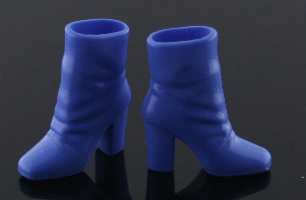 Barbie Size Shoes -- Rubber Ankle (Slouch) Boots -- Medium Blue