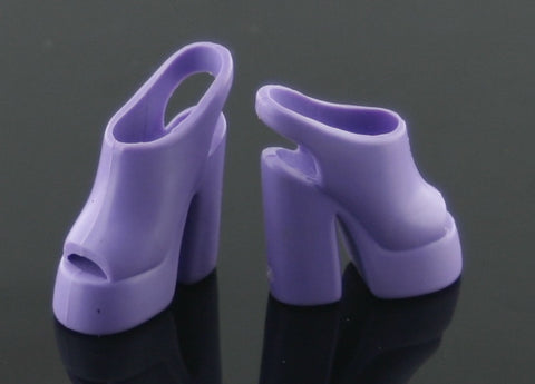Barbie Shoes -- Purple Platform Shoes -- Slingbacks
