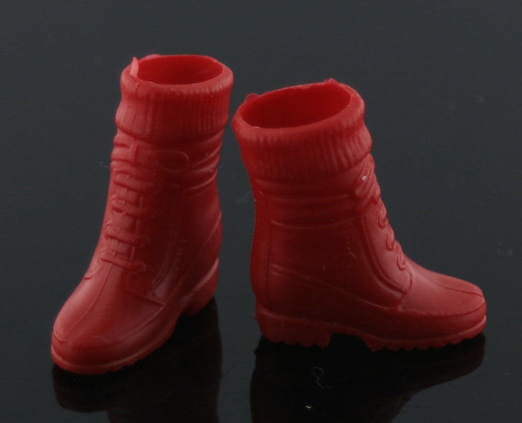 Barbie Shoes -- Dark Red Sock Top Hiking Boots