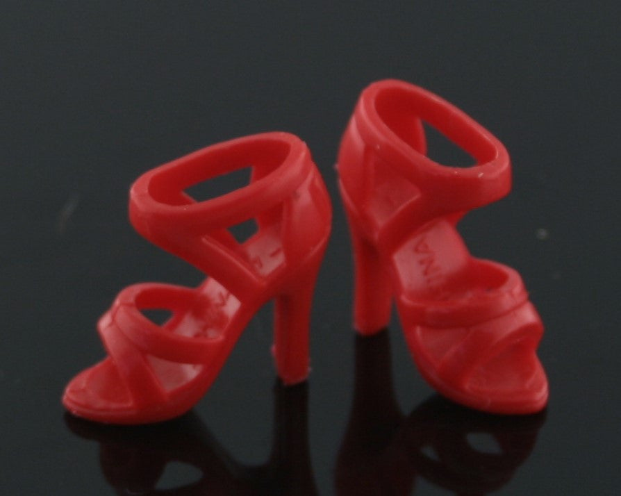 Barbie Shoes -- Bright Red Strappy Sandals