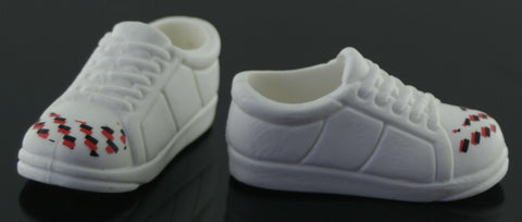HSM Boy Doll Shoes -- White Sneakers -- Fit Kevin