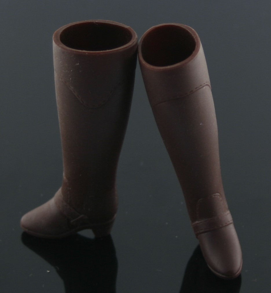 Barbie Shoes -- Dark Brown Riding Boots