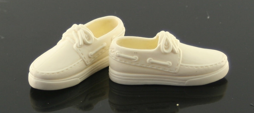 Ken Doll Shoes -- Cream White (Off White) Dock Shoes