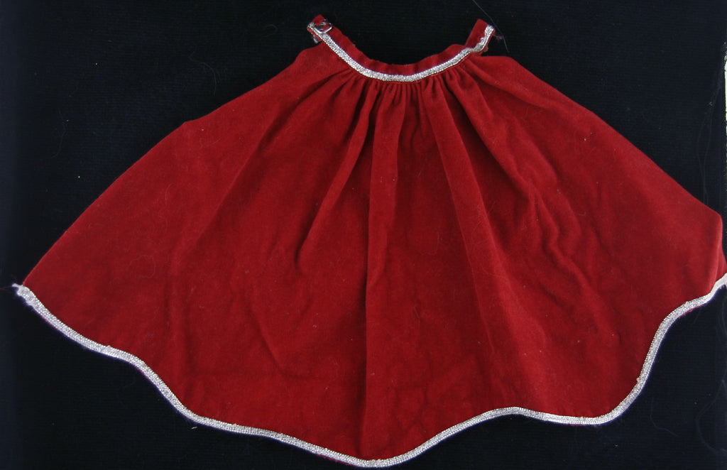 Vintage Barbie Clothes -- Heavenly Holidays # 4277 Red Overskirt