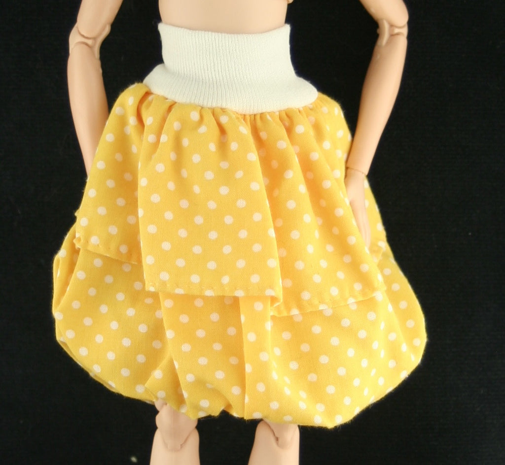 Lucky China Doll Clothes -- Yellow Balloon Skirt -- Fits Barbies