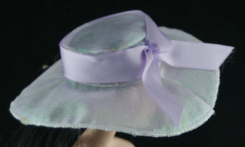Hat -- Irridescent Purple Hat W/ Ribbon -- Fits Barbies