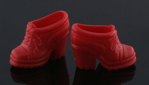 Barbie Shoes -- Red High Heel Sneakers