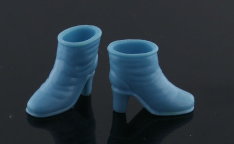 Shoes -- Bright Blue Dainty Ankle Boots -- Fit Barbies