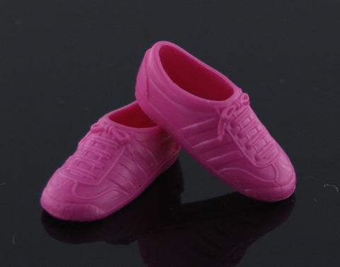 Barbie Shoes -- Magenta Classic Sneakers