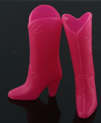 Shoes -- Neon Pink Cowboy Boots -- Fit Barbie
