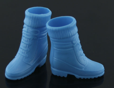 Barbie Size Shoes -- Blue Sock Top Hiking Boots