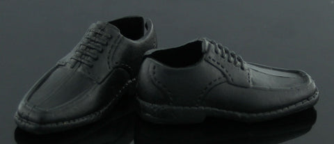 Ken Doll Size Shoes -- Black Oxfords